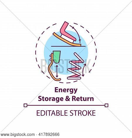 Energy Storage And Return Concept Icon. Lower-limb Prostheses Task Idea Thin Line Illustration. Pros