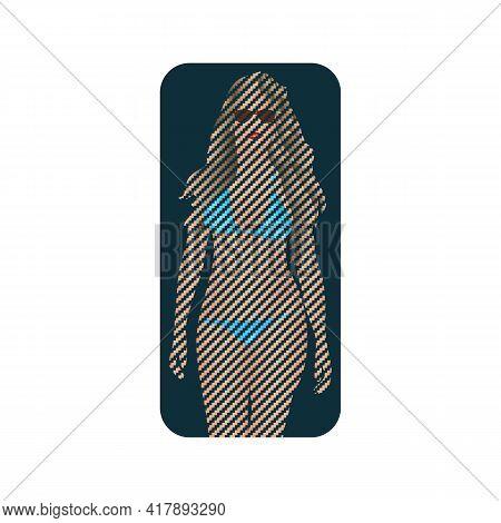 Illustration Vector Graphic Of Beach Girl Logo
