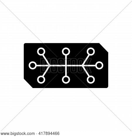 Electrical Computer Parts Black Glyph Icon. Parts In Electronic System Used To Affect Electrons Or T
