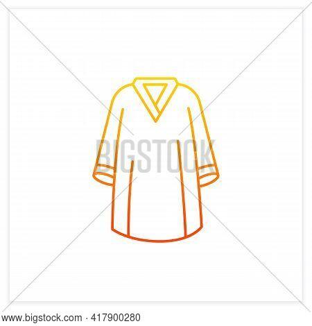 Graduation Dress Gradient Icon. Special Graduate Mantle. Holiday Costume. Graduate Uniform.graduatio