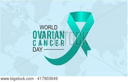 World Ovarian Cancer Day Prevention And Awareness Vector Concept. Banner, Poster World Ovarian Cance