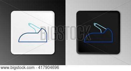 Line Car Handbrake Icon Isolated On Grey Background. Parking Brake Lever. Colorful Outline Concept.