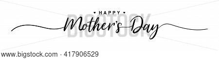 Happy Mother's Day. Mother Day Poster. Vector Illustration For Women's Day, Shop, Discount, Sale, Fl