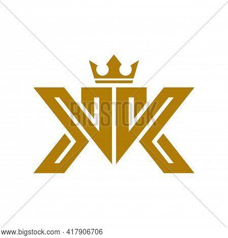 Letter K K King Gold Logo Icon Vector Concept Graphic Design