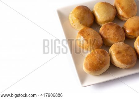 American Crush Butter Biscuits Isolated On White Background