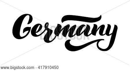 Germany Vector Lettering. Design Of Country Name For Germany. Modern Brush Calligraphy. Handwritten