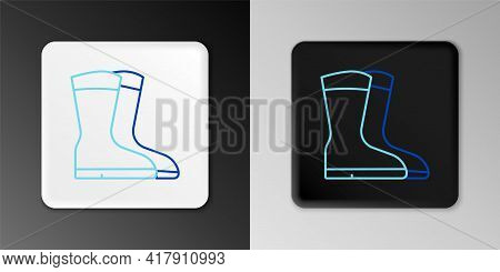 Line Fishing Boots Icon Isolated On Grey Background. Waterproof Rubber Boot. Gumboots For Rainy Weat