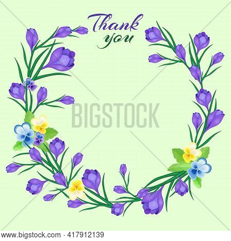 Thank You.vector Illustration For Greeting Cards,wedding Invitations, Birthday,spring Or Summer Holi