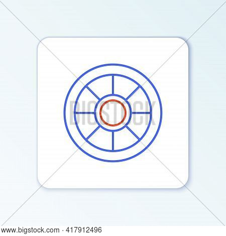 Line Safe Icon Isolated On White Background. The Door Safe A Bank Vault With A Combination Lock. Rel