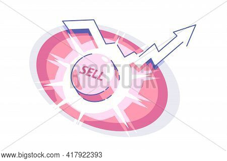 Sell Button And Up Arrow Vector Illustration