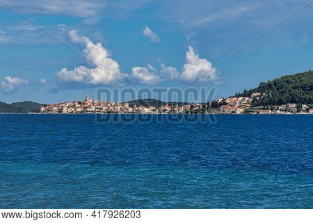 View Of The Adriatic Sea At Viganj, Peljesac Peninsula In Dalmatia, Croatia