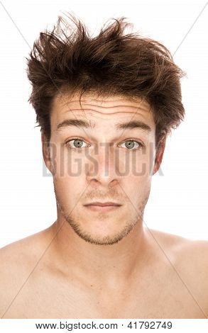 Caucasian Portrait isolated on white