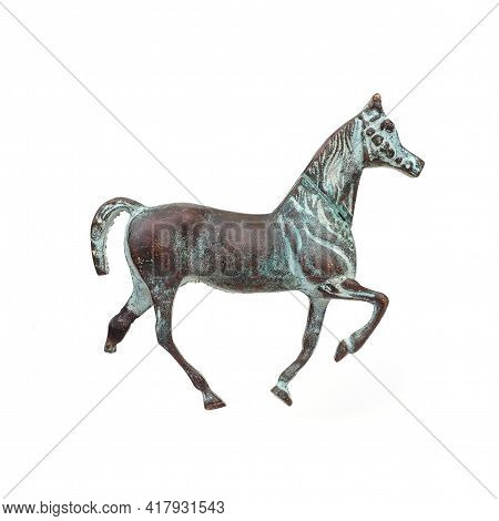 Vintage Horse For Interior Decoration Isolated On White Background