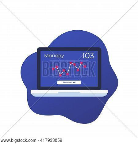 Glucose Levels Chart On Screen, Vector Art