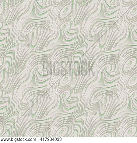 Abstract Texture Light Beige Greenish Wave. Seamless Texture Pattern. 3d Render