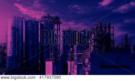 Oil And Gas Petrochemical Industrial In Osaka Japan.