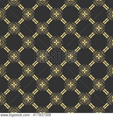 Seamless Openwork Pattern For Textures, Textiles, Packaging And Simple Backgrounds. Flat Style.