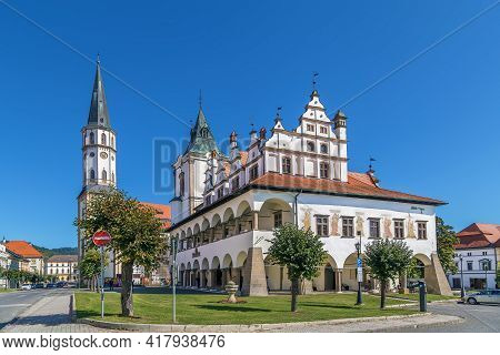 Old Town Hall And Basilica Of St. James In Levoca, Slovakia