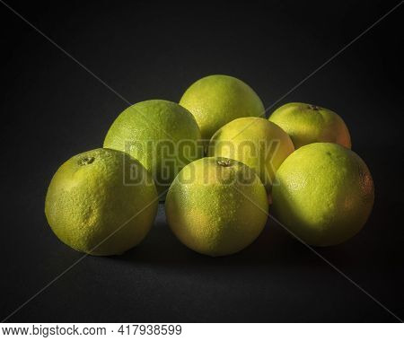 Citrus Limetta Commonly Known As Mousami, Musami, Sweet Lime, Sweet Lemon, And Sweet Limetta, In Ind