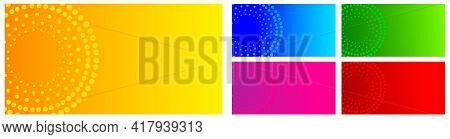 Abstract Green, Red. Blue, Magenta, Yellow Gradient Vector Banner Background. Halftone Dotted Minima