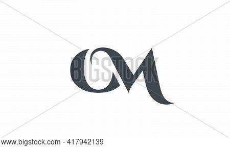 Om Logo Vector Isolated On White Background.