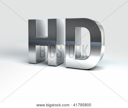 Metal Text High Definition