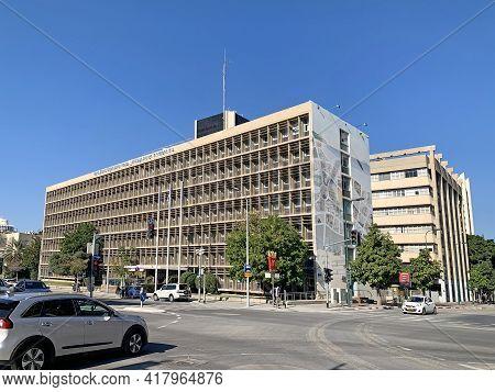 Tel Aviv, Israel - December 24, 2020: The Building Of The World Zionist Organization On Kaplan Stree