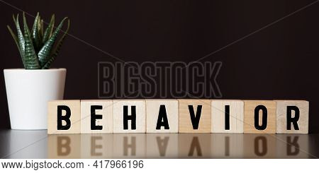 Behavior Word Written On Wood Block, Concept