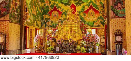 Wat Don Mueang Phra Arramluang Buddha Statue Figure Thailand.