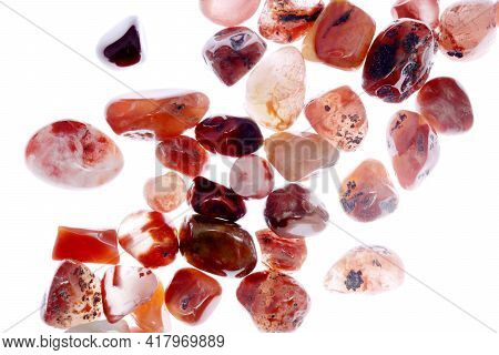 South Onyx Heap Up Jewel Stones Texture On White Light Isolated Background