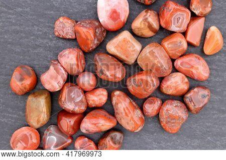 South Onyx Heap Up Jewel Stones Texture On Black Stone Background
