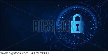 Global Network Security Concept Design.cyber Security And Information Or Global Network Protection.p