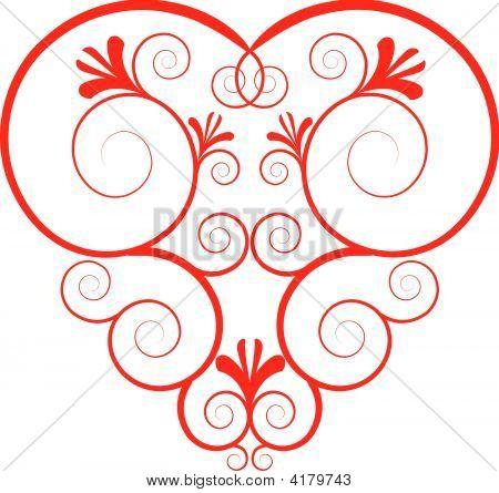 Fancy Heart Illustration