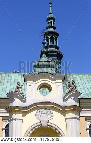 17th Century Baroque Church Of  St.michael The Archangel , Sandomierz, Poland