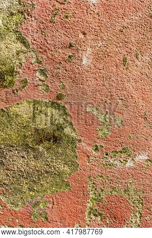 Shabby Painted Cement Plastered Wall