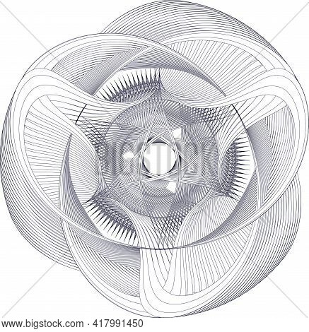 Vector Mandala In An Original Openwork Combination. A Circular Pattern Of Repeating Colored Gradient