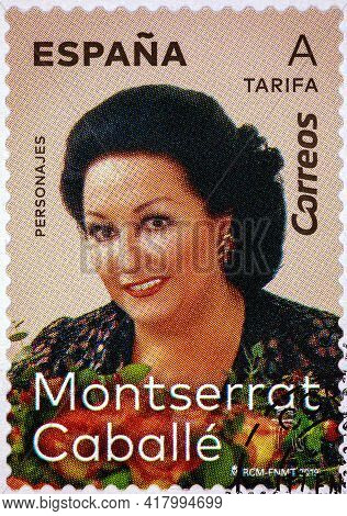 Spain - Circa 2019: A Stamp Printed In Spain From The \