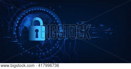 Global Network Security Concept.cyber Security And Information Or Global Network Protection.protecti