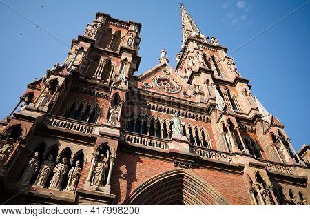 Catholic Church In Neogothic Architectural Style Called Iglesia Del Sagrado Corazon De Jesus Or Igle