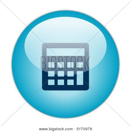 Glassy Blue Calculator Icon