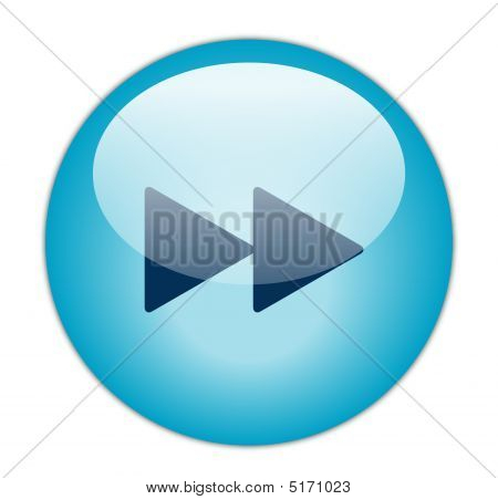 Glassy Blue Forward Icon