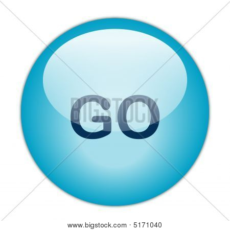 The Glassy Blue Go Button