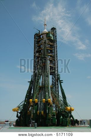 Soyuz Spaceship On The Launch Pad