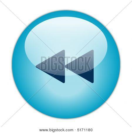 Glassy Blur Rewind Icon Button