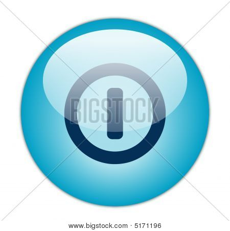 Glassy Blue Switch Off Icon