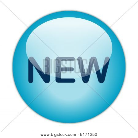 The Glassy Blue New Button