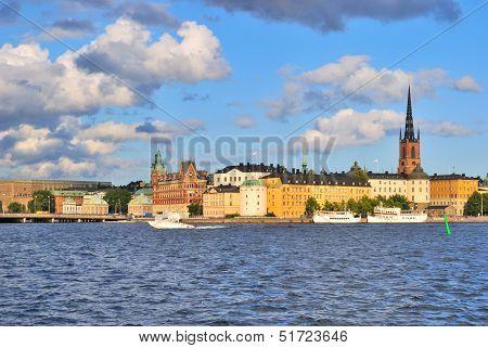 Stockholm. Island Riddarholmen  At Sunset