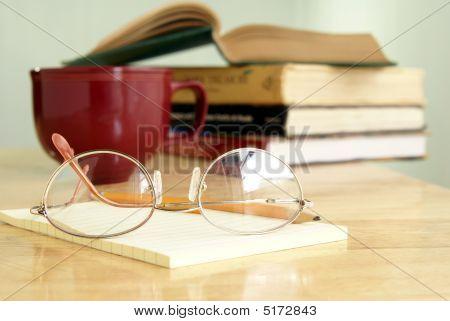Eyeglasses On Notepad