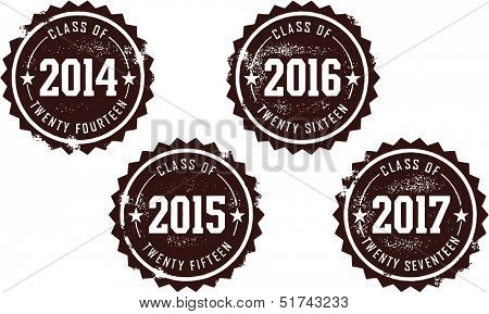 Class of 2014 2015 2016 2017 Graduation Stamps