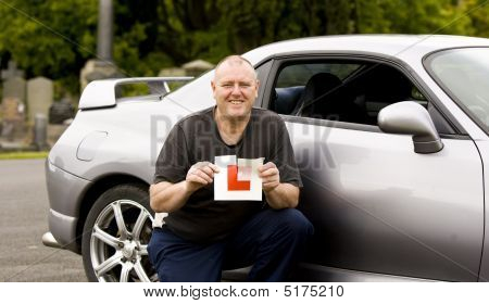 Middle Aged Man Passes Driving Test